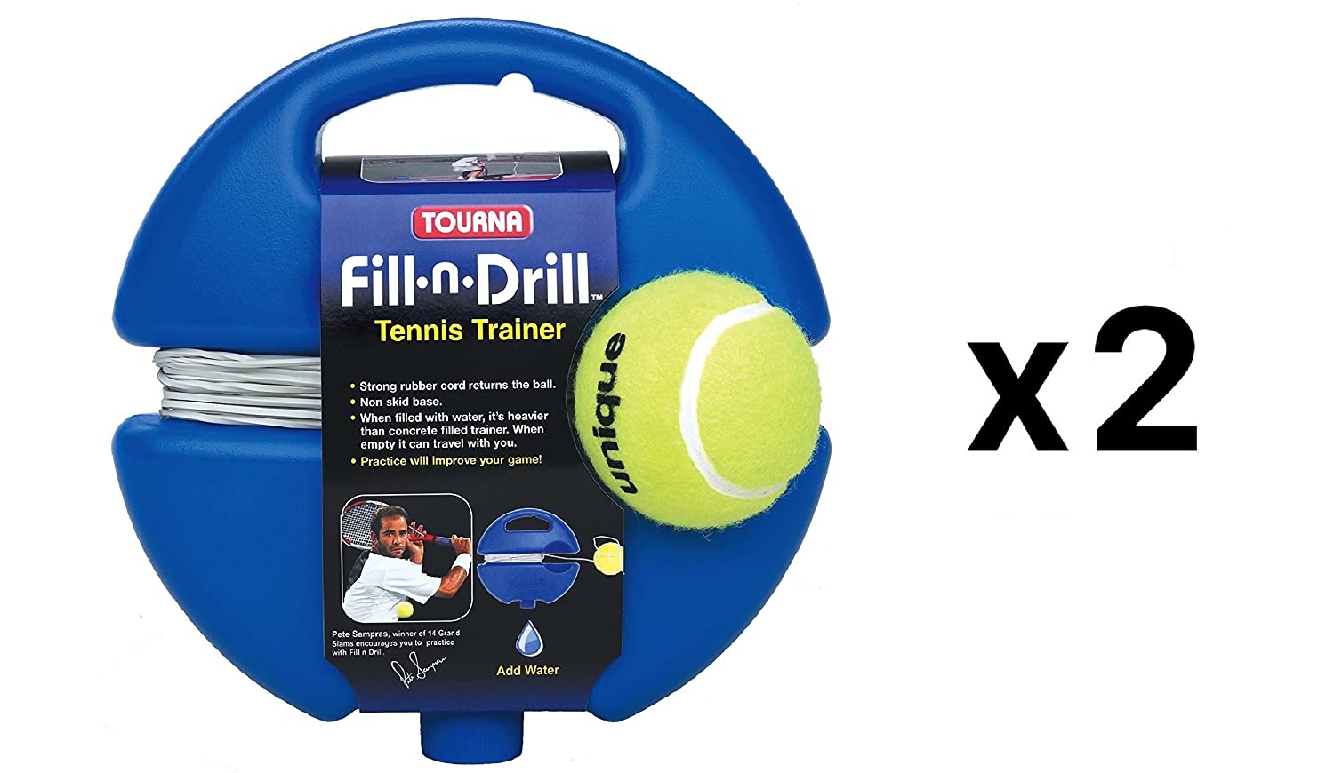 Tourna Fill n Drill Trainer Youth Tennis Practice Training Kids Aid 2-Pack: Amazon.es: Deportes y aire libre