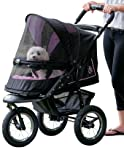 Pet Gear No-Zip NV Pet Stroller for Cats/Dogs, Zipperless Entry, Easy One-Hand Fold, Air Tires, Plush Pad + Weather Cover...