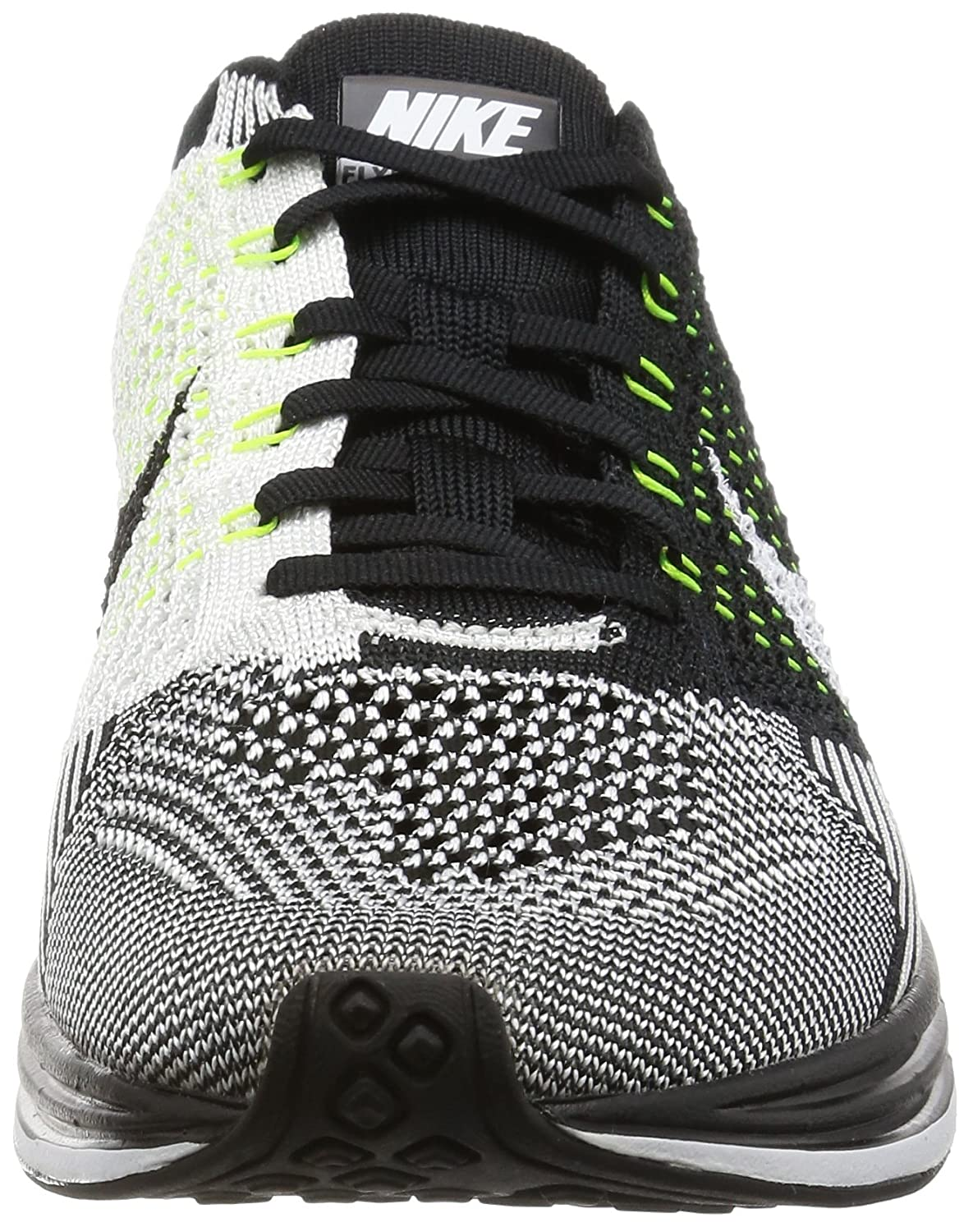 Amazon.com | Nike Flyknit Racer Unisex Running Trainers 526628 Sneakers Shoes (4.5 D(M) US, Black White White 011) | Road Running