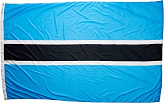 product image for Annin Flagmakers Model 190757 Botswana Flag Nylon SolarGuard NYL-Glo, 5x8 ft, 100% Made in USA to Official United Nations Design Specifications