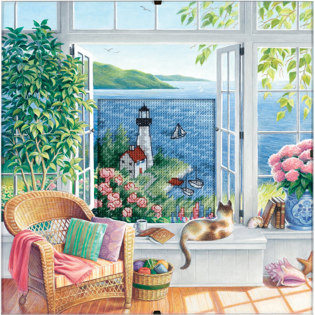Dimensions Needlecrafts Counted Cross Stitch, Beach Tranquility 73262