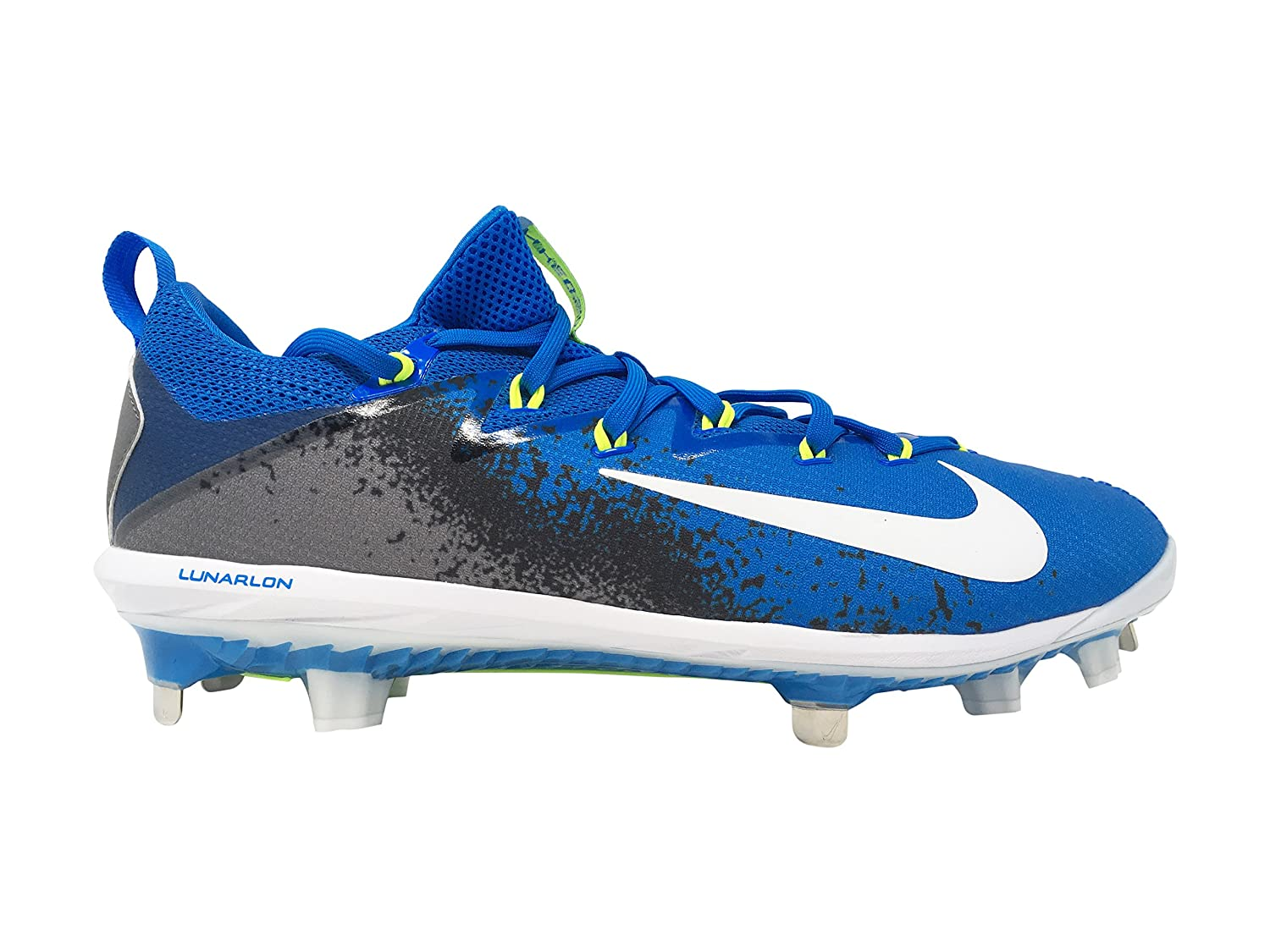 NIKE Men's Lunar Vapor Ultrafly Elite Baseball Cleat B073NDXPTB 12 D(M) US|Blue/Grey/White/Neon