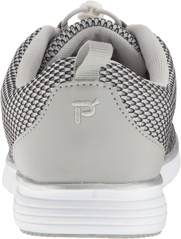 Propét Women's TravelFit Prestige Walking Shoe Silver/Black