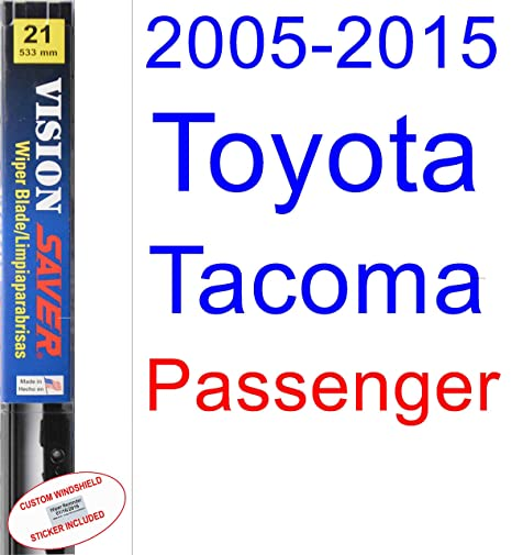2005-2015 Toyota Tacoma Wiper Blade (Passenger) (Saver Automotive Products-Vision Saver) (2006,2007,2008,2009,2010,2011,2012,2013,2014)