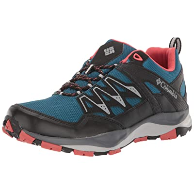 Columbia Women's WAYFINDER Outdry Hiking Shoe, Lagoon, Coral, 9.5 Regular US | Hiking Shoes