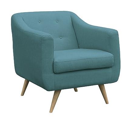 SLAAP Sofá & Chaise - Butaca Estilo nórdico, Azul Turquesa ...