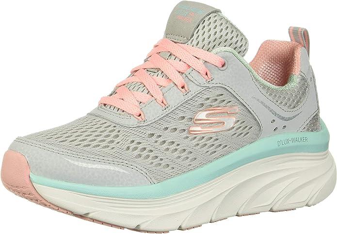 Skechers Dlux Walker-Infinite Motion, Zapatillas Mujer: Amazon.es: Zapatos y complementos