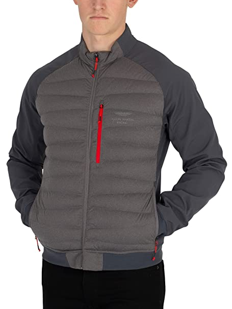 Hackett London Hombre Chaqueta Híbrida Aston Martin Racing, Gris: Amazon.es: Ropa y accesorios