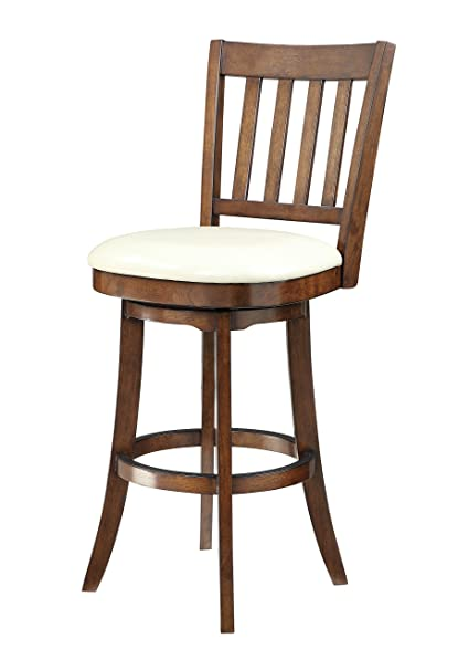 Office Star Mission Full Back Bar Stool with Solid Wood Frame and Bonded Leather Seat  sc 1 st  Amazon.com & Amazon.com: Office Star Mission Full Back Bar Stool with Solid ... islam-shia.org