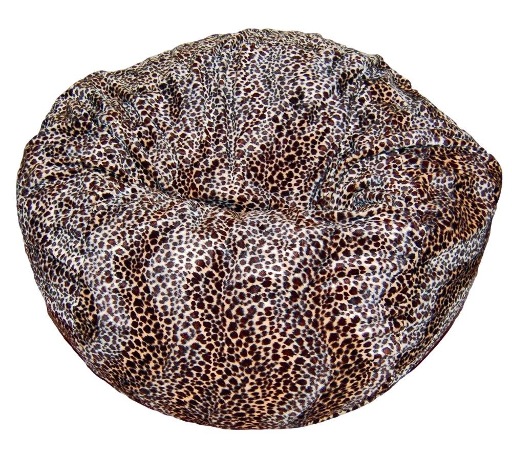 Ahh! Products Cheetah Animal Print Fur Washable Large Bean Bag Chair