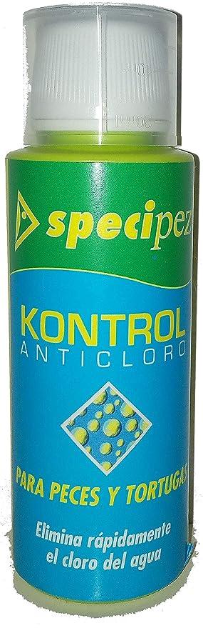 Specipez ® - KONTROL – Anticloro Que Elimina rápidamente el Cloro del Agua del Acuario,