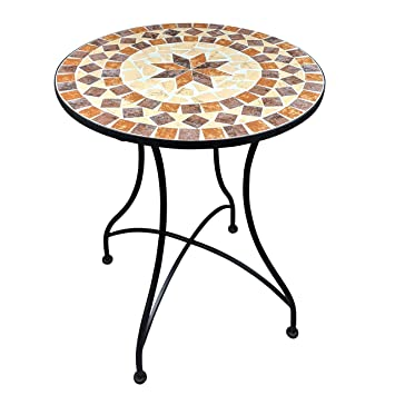 Dszapaci Table de Jardin en mosaïque Table de Balcon Table de ...