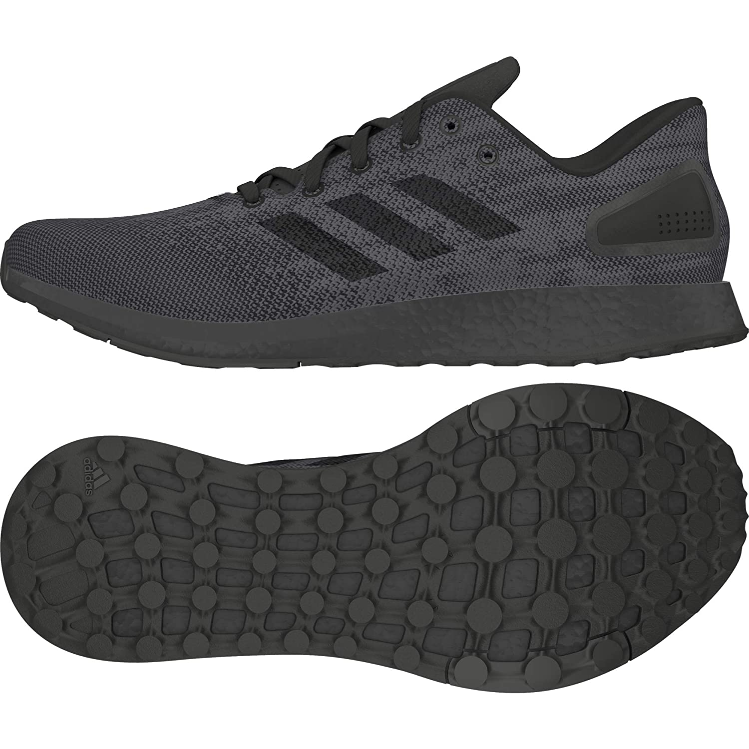 f1959b22dbf89 Adidas Men s Pureboost DPR Ltd Running Shoes 10 10 M US Black  Buy Online  at Low Prices in India - Amazon.in