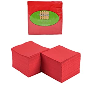 2 Ply Red Beverage Napkins (Pack of 100ct)