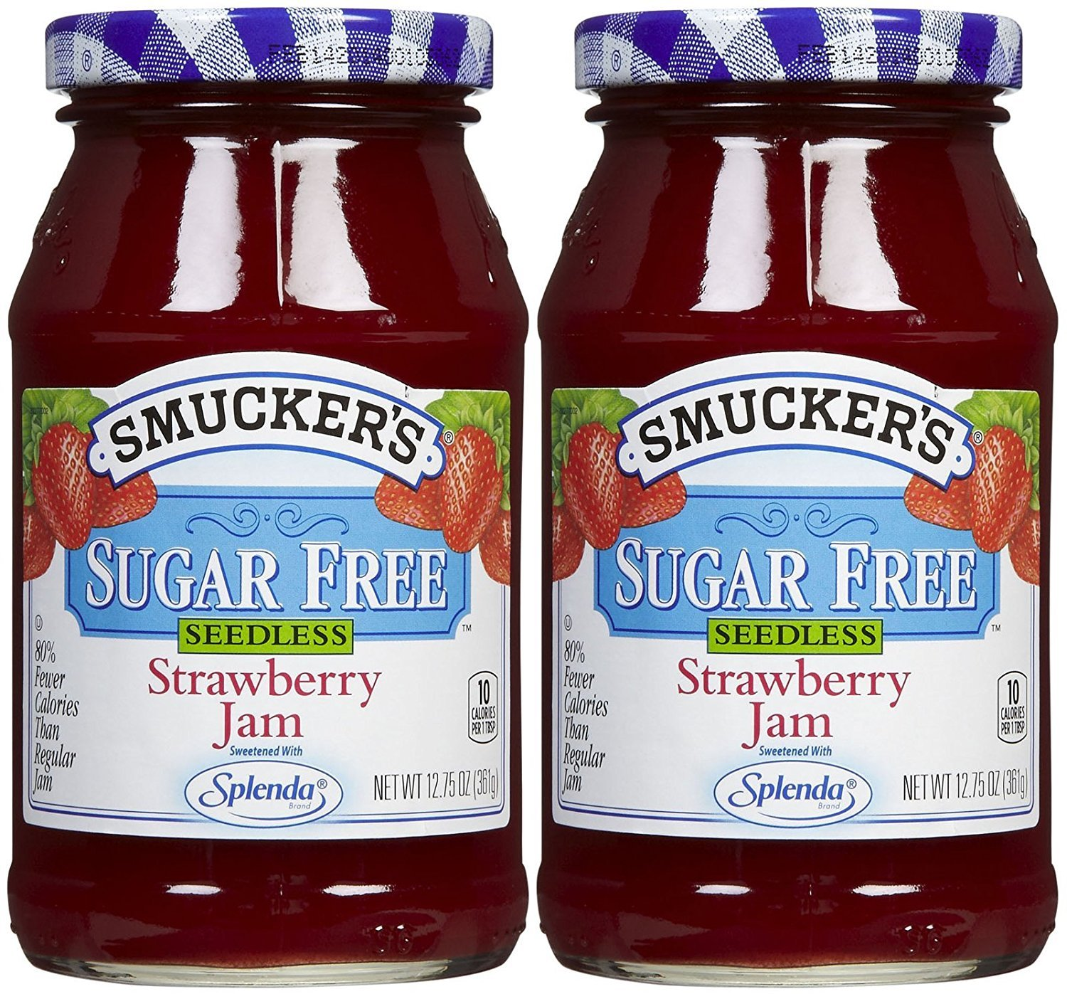 Smucker's Sugar Free Seedless Strawberry Jam, 12.75 oz, 2 pk