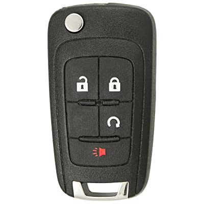 Keyless2Go Replacement Keyless Remote 4 Button Flip Car Key Fob For OHT01060512: Automotive