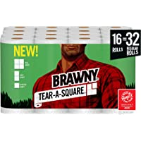 16-Pack Brawny Tear-A-Square Paper Towel (Quarter Size Sheets)