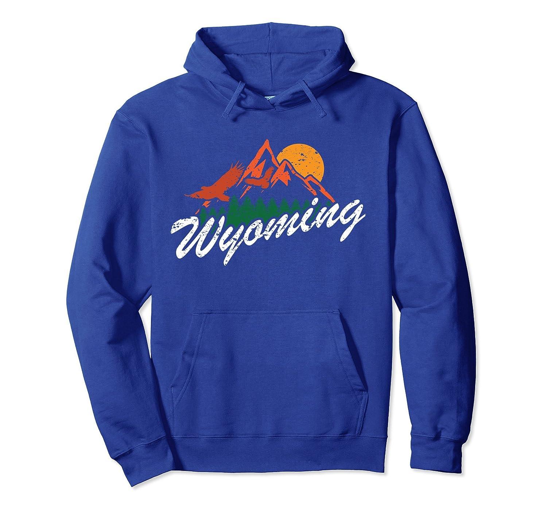 Retro Wyoming Hoodie Hiking Mountain Line Gift-ah my shirt one gift