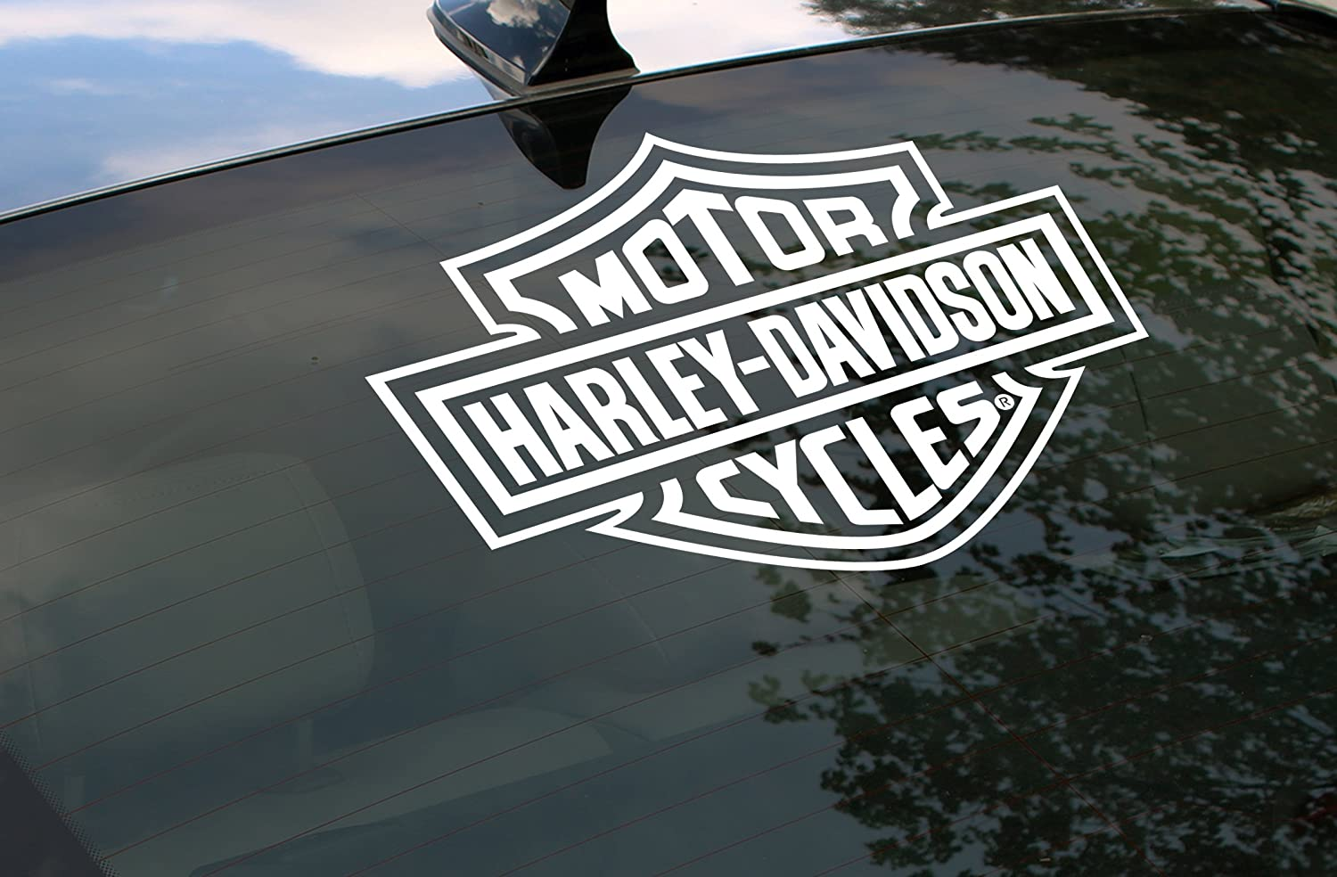 Harley davidson logo cutz rear window decal decals bumper stickers amazon canada
