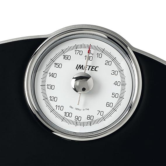 Imetec F-Light Medical-Pro - Báscula de baño (Báscula de baño analógica, 180 kg, kg, Negro, Analógico): Amazon.es: Hogar