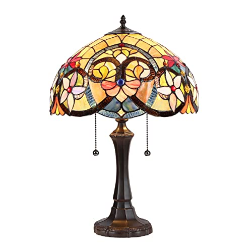 Chloe CH35541AV16-TL2 Judith Tiffany-Style Table Lamp with 16 Shade