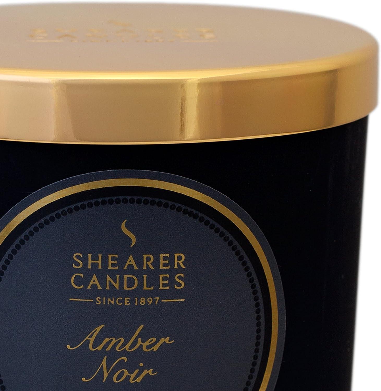 Shearer Candles SCC791 Victorian Winter Candles - Vaso con Vela (Cristal Esmerilado), Color Negro: Amazon.es: Hogar