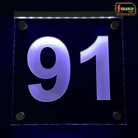 LED Número de Casa Exterior Cartel vía Cartel Orientación ...