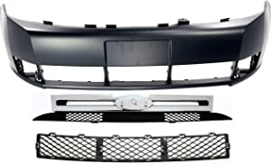 Auto Body Repair Compatible with 2008-2011 Ford Focus with Front Bumper Cover and Grille Assembly (10-11 S/SE/SEL Models) Set of 3