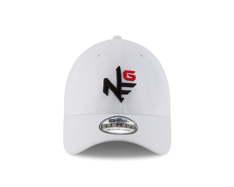 brand new 7bcf6 df387 Amazon.com   New Era Golf Contour Tee Logo Stretch Fit Cap-SM (Optic White,  Small Medium)   Sports   Outdoors