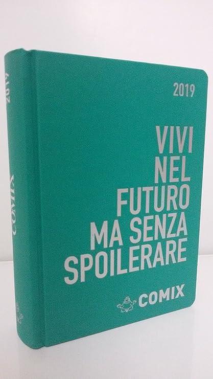 Diario Agenda comix 2019 fechas 16 meses verde texto ...