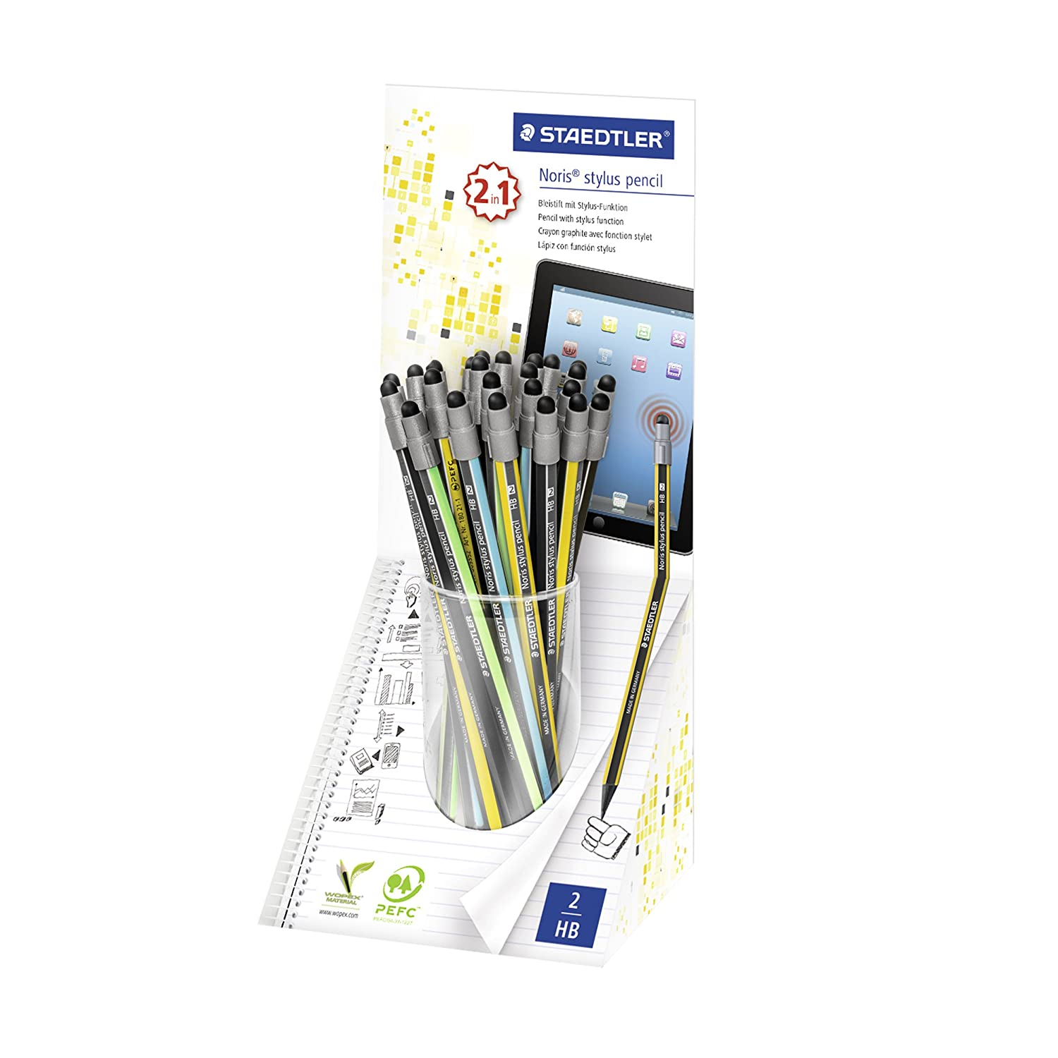 Staedtler 180 21KP24 Noris stylus Pencil Set of 24 in Display Box 180 21KP24ST