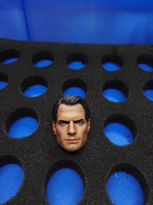 1//6 Superman Henry Cavill Male Head Sculpt Fit 12/'/' Action Figure Toy