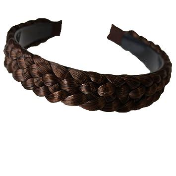 fa7e789e29ea85 PRETTYSHOP Haarreifen mit geflochtenem Zopf Haarteil Haarband Kopfschmuck  Haarschmuck HR6
