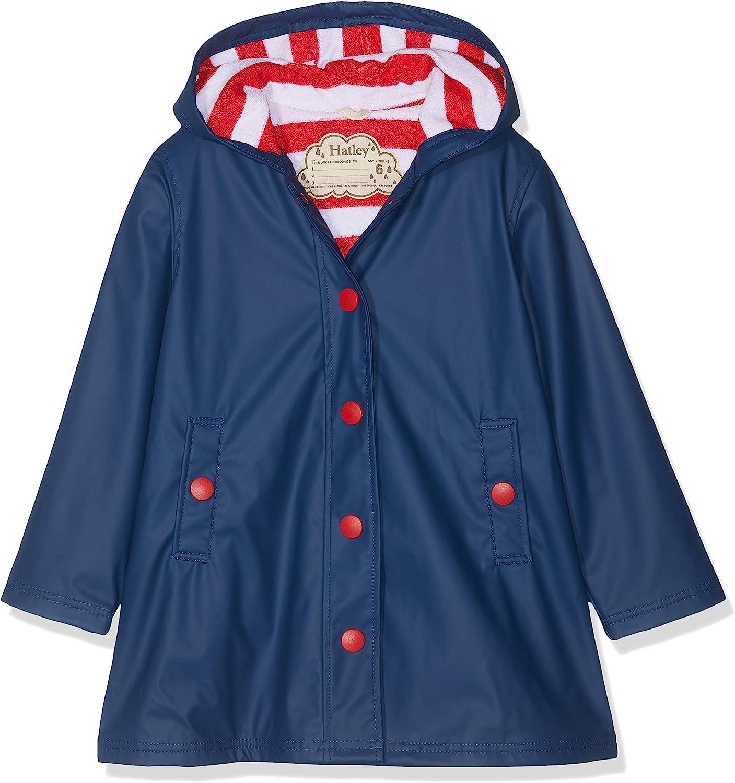 Hatley Girls Splash Jacket-Red Rain