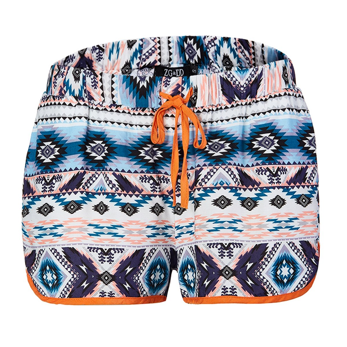ZG&DD Women's Sexy Hot Pants Fast Dry Summer Casual Surf High Waisted Shorts Swimming Shorts (XL, Color-6)