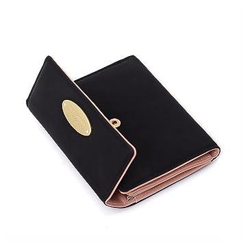 d7eae7684701c9 Damen Geldbörse Klein Portemonnaie für Frauen Leder Geldbeutel Damen  Brieftasche Damen Kurz mit Münzen Taschen Geld