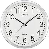 CASIO(カシオ) 掛け時計 アナログ 連続秒針 シルバー IQ-77-8JF