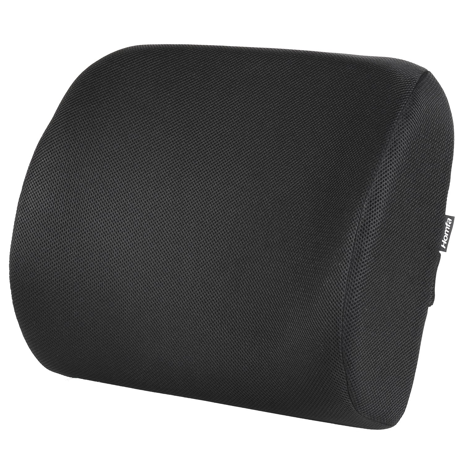HOMFA Lumbar Pillows Back Cushion Memory Foam Cushion Relief Back Pain Use for Office Chair,Car and Home HF