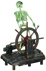 Skeleton at the Wheel action ornament
