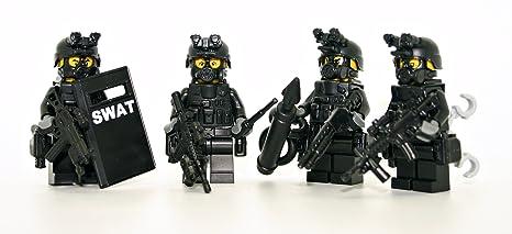 Amazoncom Modern Brick Warfare Swat Team Police Squad Custom
