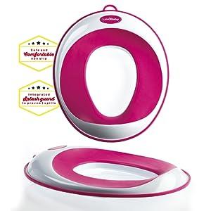 Siege réducteur de toilettes pour enfant antidérapant unisexe | GRATUIT : attache murale de rangement a ventouse