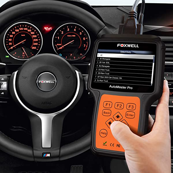 The screen on the FOXWELL NT624 which is an OBD II scanner is also large, clear, and bright