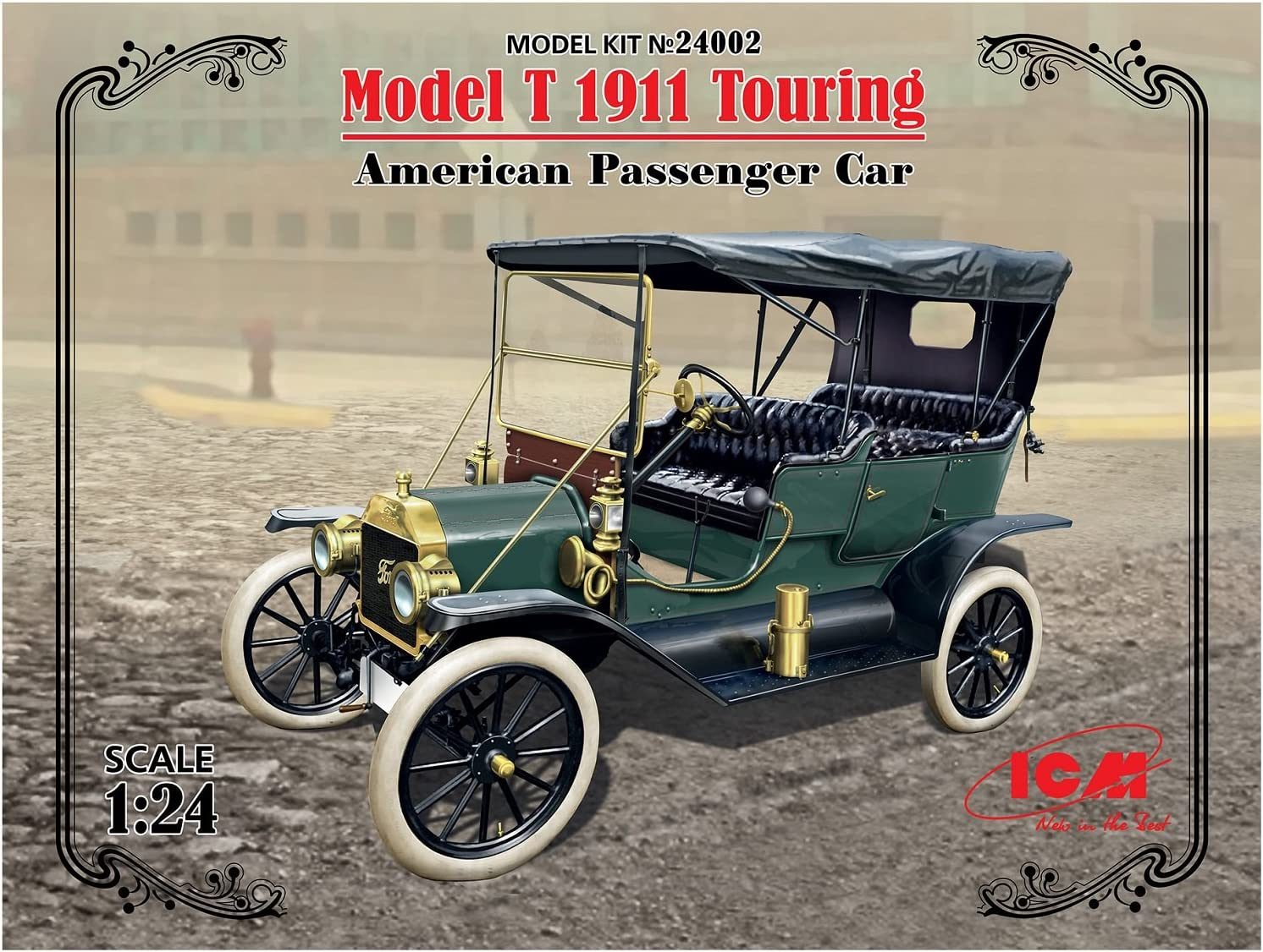 Icm Models Model T 1911 Touring American Passenger Car Model Kit Toys Games