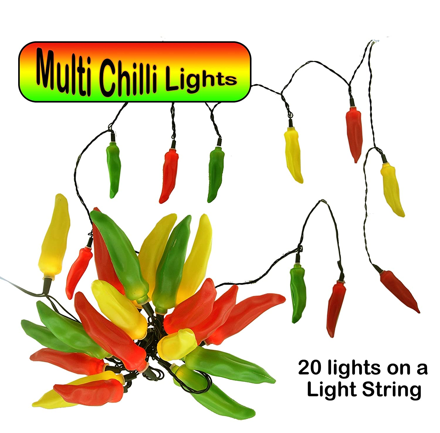 fairy lights multi colour chilli peppers lights