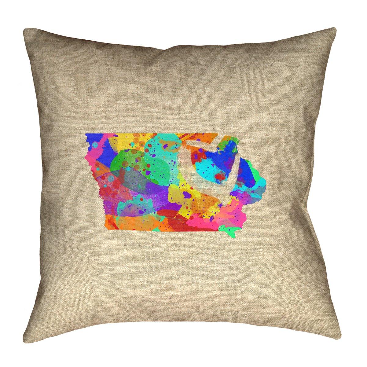 ArtVerse Katelyn Smith 16 x 16 Spun Polyester Hawaii Love Pillow