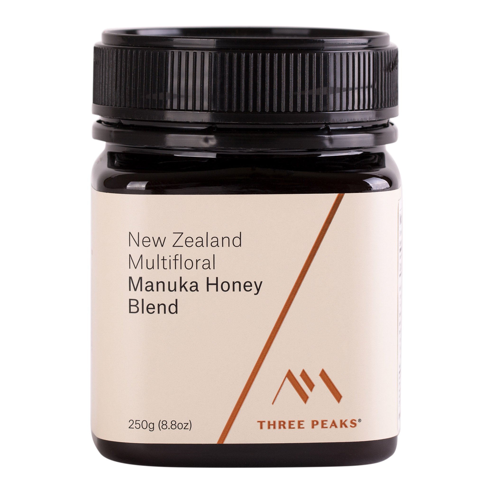 Three Peaks Manuka Honey New Zealand – Multifloral Blend, 8.81 oz (250gm) - 100% Natural honey, Raw honey – Healing Manuka honey