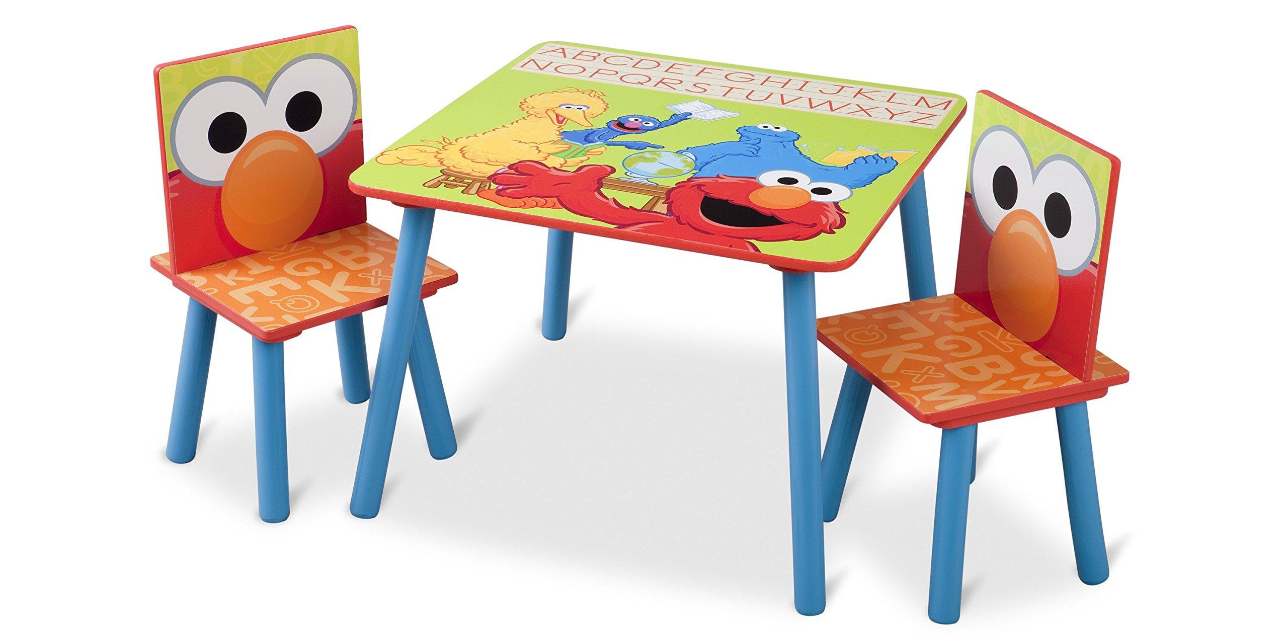 Delta Children Table & Chair Set, Sesame Street