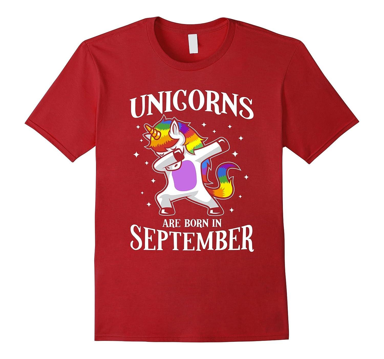 Unicorn Happy Birthday Shirt - Born in September-Art