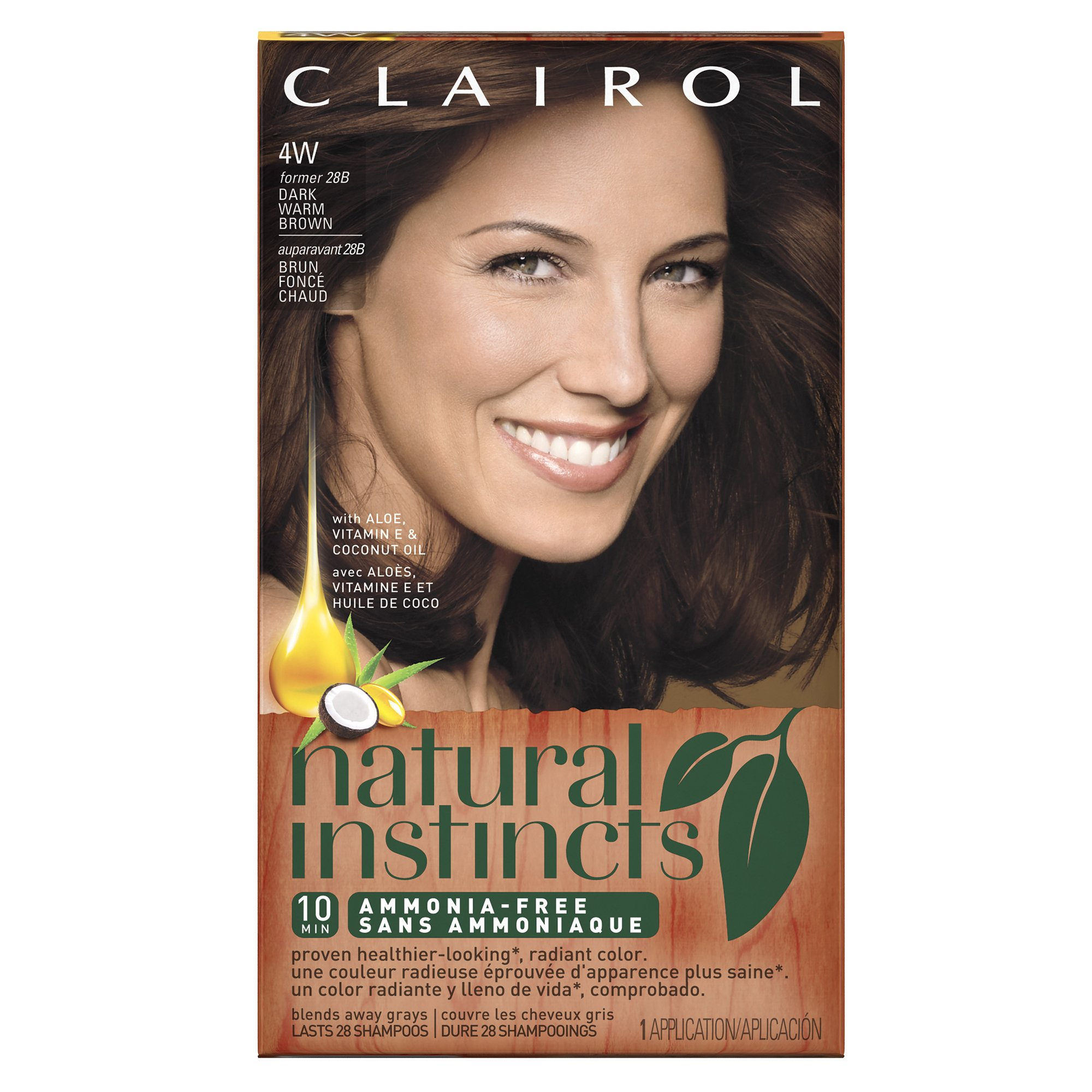Amazon Clairol Natural Instincts 4w 28b Roasted Chestnut