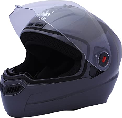 284c25601 Steelbird Air SBA-1 Glossy Full Face Helmet (H. Grey